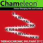 Thermochromic Colour Changing Ink Paint for Screen Printing - 31°C Red
