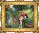 Framed Art Woman Bathing Her Feet Camille Pissarro Print Painting Reproduction