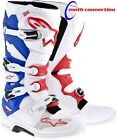 ALPINE STARS TECH 7 MOTOCROSS ENDURO BOOTS  WHITE/RED/BLUE FREE 48HR DELIVERY