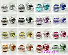 Wholesale 50x Aluminium European Loose Spacer DIY Beads/Charms For Bracelet 13mm