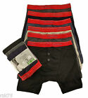12 Pairs Men's Boxer Shorts Designer Black Red Band, Cotton Rich Underwear S-XL