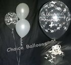 Holy Communion Helium Balloons - 15 Table Decorations - All Colours - DIY Kit