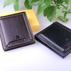 Men's Leather ID Credit Card Holder Clutch Bifold Money Purse Wallet Pockets