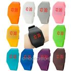 11 Color Digital LED Touch Screen Ultra-thin Wrist Watch Mens Ladies Light Sport