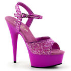 Neon Purple UV BlackLight Platform Mens Drag Queen Heels Shoes size 11 12 13 14