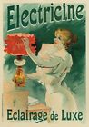 AP78 Vintage French Electricine Jules Cheret Advertisement Poster A1/A2/A3/A4