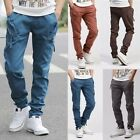 Men Casual Harem Baggy Hiphop Pants Jogger Tapered Drop Crotch Cuffed Trousers