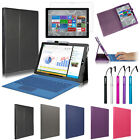 "Premium Leather Folio Stand Case Cover Accessory For 12"" Microsoft Surface Pro 3"