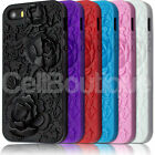 New 3D Flower Hard Case For Apple iPhone 5 Screen Protector