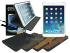 Suede Leather Case+Screen Cleaner Pad+Protector+Stylus for iPad Mini 2 Retina