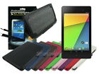 Leather Case+Screen Cleaner Pad+Stylus for Nexus 7 2 Gen 2013