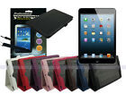 Leather Folding Case+Screen Cleaner Pad+Stylus for iPad Mini
