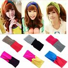 Women Turban Twist Headband Head Wrap Twisted Knotted Knot Soft Hair Bands NEW