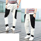 New BOY Mens Fashion Casual Sport Trousers Harem Pants Straight Big Pocket UKLO