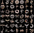 53Styles Crystal  Rhinestone Lady Faves Banquet Brooch Pin Jewellery Party Gift