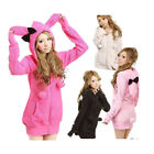 U5H Women Ladies Hot Fashion Cute Bunny Ears Warm Hoodie Jacket Coat Outerwear