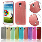 Samsung Galaxy S4 Brushed TPU Handy Cover Crystal Case Bumper Gebürstet Look