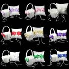 Ring Pillow And Girl Flower Baskets Wedding Bridal Color Bowknot Pearl Supplies