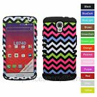 For LG Volt LS740 Colorful Chevron Wave Hybrid Rugged Impact Armor Case Cover
