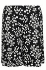 Yoursclothing Womens Plus Size Daisy Print Jersey Shorts