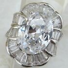 Size 6 7 9 hot gorgeous white oval cut cz gems jewelry gold filled ring K1691-8