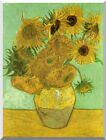 Vase with Twelve Sunflowers by Vincent van Gogh Repro Stretched Canvas Art Print