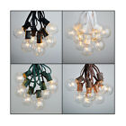 100 ft G50 Outdoor Patio Party Globe String Lights 100 Sockets 125 Clear Bulbs