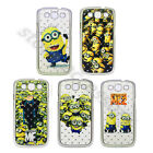 Diamond Despicable Me Minions Bling Gems Hard Back Case Cover For Various Phones