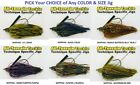 All Terrain Tackle Jig - Dock Skipping - Your Choice of Color and Size - New