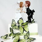 3D Butterflies - Olive Green -  Weddings, Invitations, Cards, Cakes, Toppers