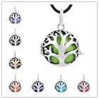 Silvery Family Tree Cage Vintage Pendant Angel Caller Necklace Harmony Ball