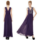 Ever Pretty Ladies Purple Maxi Evening Party Celebrity Formal Gowns Dress 08190