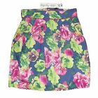 NEW LADIES GIRLS ELEGANTLY WAISTED RETRO VINTAGE FLORAL TULIP MINI SKIRT 8 - 16