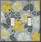 Switch Plates And Outlets - Aged Yellow And Grey Floral - Modern Home Decor