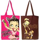 Girls Genuine Betty Boop Cotton Tote Shopping Bag Travel Gym Beach Bag