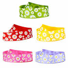 Various colours daisy patterned grosgrain ribbon 25mm 1 metre sample length