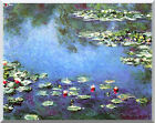 Water Lilies Claude Monet Stretched Canvas Wall Art Print Painting Reproduction