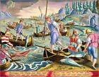 """Poster / Leinwandbild """"Fishing with Nets and Tridents in the Bay..."""" - J. Straet"""
