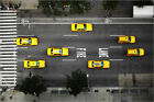 Poster / Leinwandbild Taxi Cabs in NYC, high angle view - Thomas Northcut