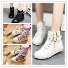 Chic Girl Ankle School Boots Zipper Sports Buckle Rivet Trainer Pumps Sneaker CB