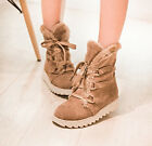 US4-11 womens snow boots Warm Winter Over Ankle Boots Womens Lace Up shoes sweet