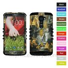 For Verizon LG G2 VS980 Camo Mossy Oak Hard & Rubber Hybrid Impact Case Cover