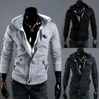 New Mens Casual Jacket Zip Up Coat Hoodies Hoody Outerwear Top Sweater Size SXXL