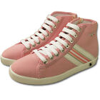 NEW BOCOROCCO GIRLS LADIES ITALIAN HIGH TOP CANVAS CASUAL LACE UP PINK SHOES