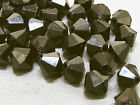 6mm 200/400/600/800/1000pcs BLACK FACETED ACRYLIC LUCITE BICONE BEADS TY3001