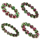 F1308 18mm Gemstone ruby zoisite ball stretch bracelet,more size to select