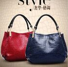 Womens Ladies  Leather Handbag Briefcase Fashion Bag Crocodile Print Purse