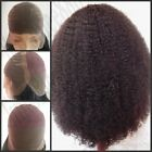 """12""""-20"""" AFRO Curl 100% India Remy Human Hair Full Lace Cap Wig French Lace"""