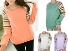 NEW Womens Ladies Long Sleeve Knitted Embroidery Sweat Shirt Jacket Coat Hoodie
