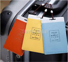 5/10 Pcs Travel Luggage Backpack ID Tag Holder Suitcase Name Tag Labels